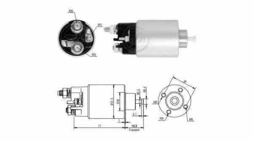 Bobina cuplare electromotor RENAULT KANGOO Express FC0/1 ERA 227675