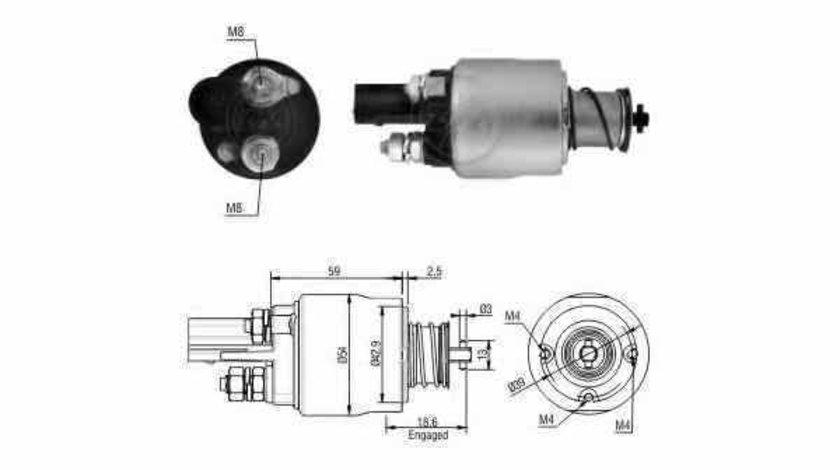 Bobina cuplare electromotor VW SCIROCCO 137 138 ERA 227062