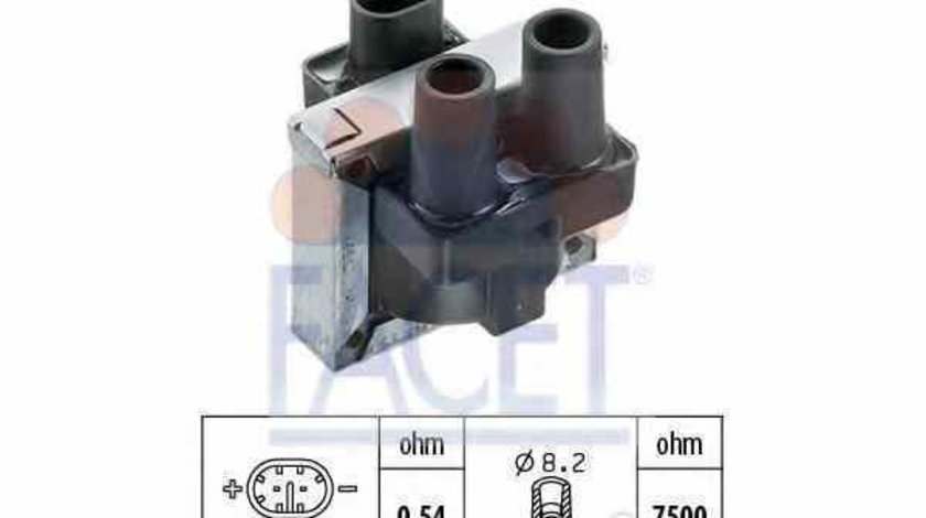 Bobina de inductie FIAT PANDA Van 169 FACET 9.6046