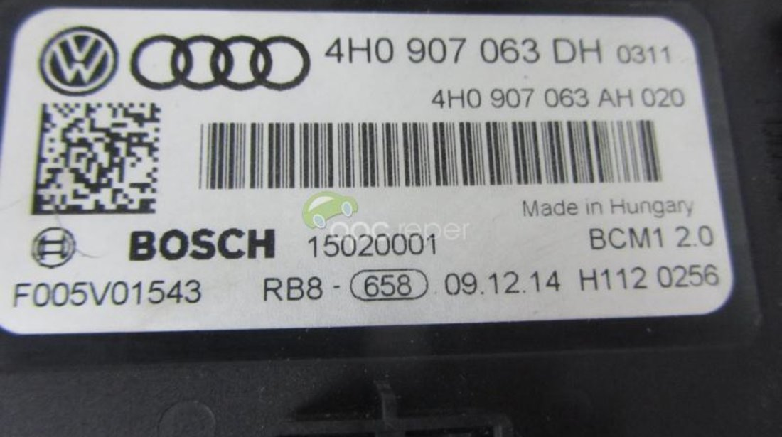 Bordnetz Original Audi A7,A6 4G,A8 4H Matrix Cod 4H0907063DH