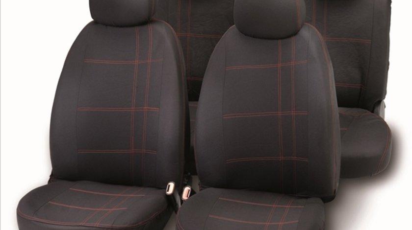 Bottari set complet huse scaune fata/spate negru/rosu