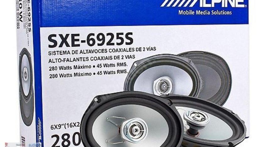Boxe Auto Coaxiale Alpine SXE-6925S 45W RMS 15x23 Cm 2 Cai Set 2 Difuzoare Ovale