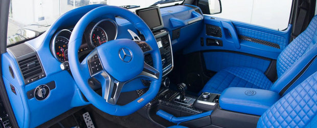 Brabus a creat un Mercedes G500 4x4 demn de Papa Smurf