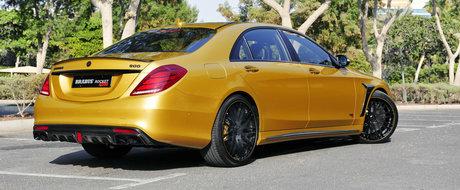 Brabus blindeaza Mercedes-ul S-Class cu sute de cai putere si elemente aurii