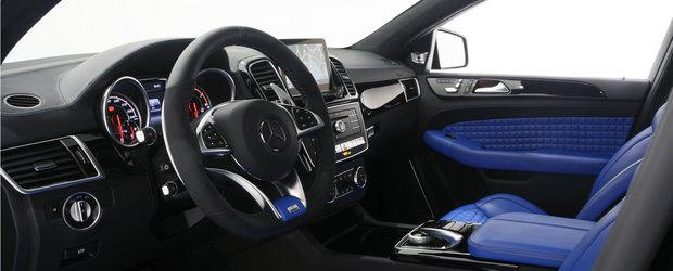 Brabus ii serveste Mercedes-ului GLE un interior albastru si circa 700 CP