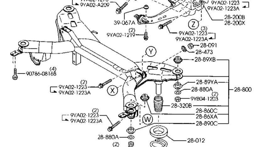 Brat inferior reglabil punte spate Mazda 6 (I) GJ6A-28-500D