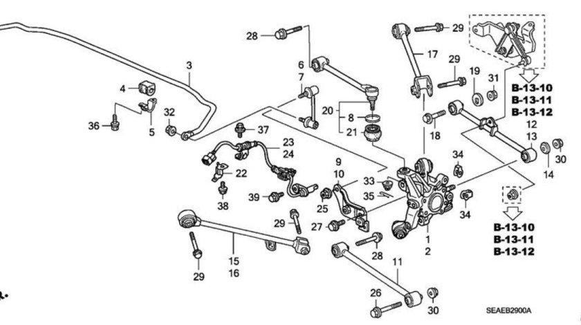 Brat inferior spate Honda Accord VIII (poz.12,13) HONDA OE 52370SEAE00
