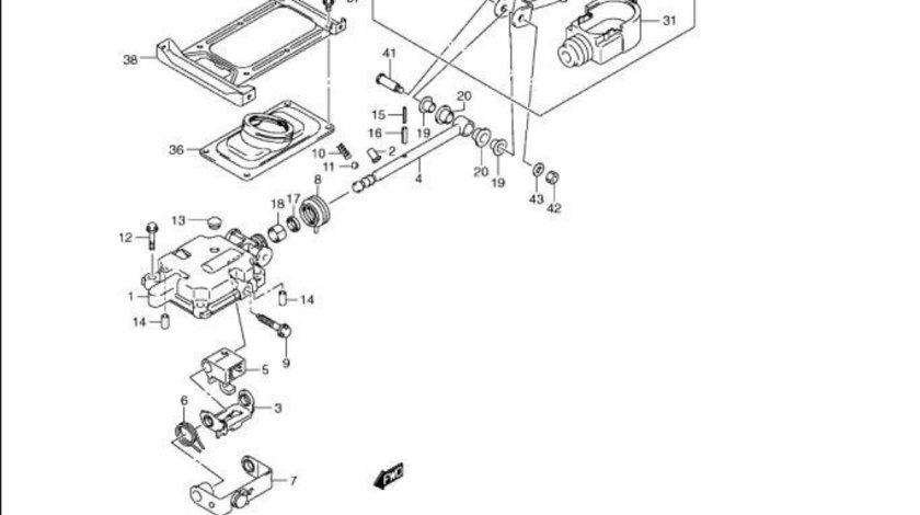Brat timonerie schimbator viteze Suzuki Jimny motor 1,3 benzina (poz.22) SANYCO 28102-76J02