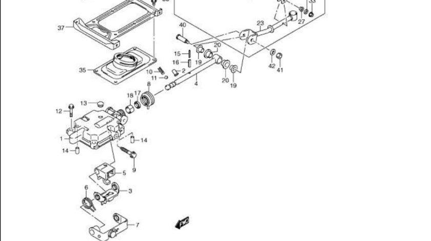 Brat timonerie schimbator viteze Suzuki Jimny motor 1,5 DDiS (poz.22) SUZUKI OE 28102-84A62