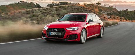 Break-ul de la Audi, cu motor biturbo si 450 de cai, este disponibil si in Romania. Cat costa noul RS4 Avant