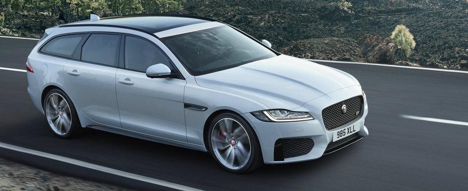 Break-urile premium au de azi un nou rival. Jaguar tocmai a lansat XF Sportbrake