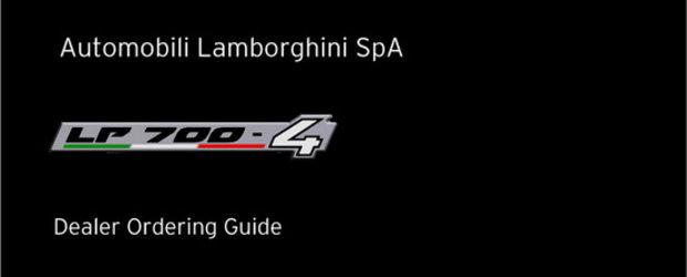 Brosura noului Lamborghini LP700-4 confirma: 700 CP, 0 - 100 km/h in 2.9 sec si 350 km/h!