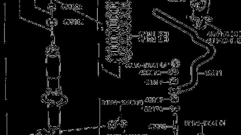 Bucsa amortizor telescop fata Toyota Land Cruiser J9(poz.48510H) TOYOTA OE 9090389012