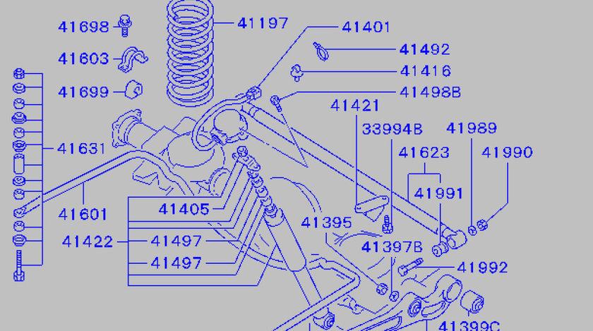 Bucsa brat punte spate Mitsubishi Pinin JAPANPARTS MB631492