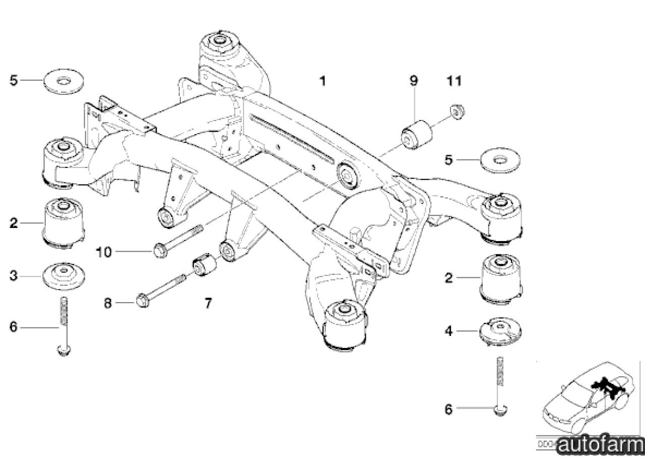 Bucsa crestata jug punte spate spre fata diferential BMW X5 (E53) LEMFORDER 33176770457