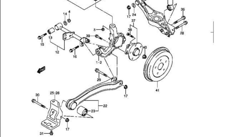 Bucsa tendon punte spate Suzuki Grand Vitara II SUZUKI OE 46371-65J00