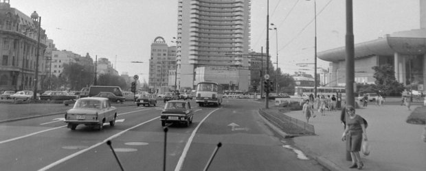 Bucurestiul, vazut prin parbrizul unui autocar in 1977