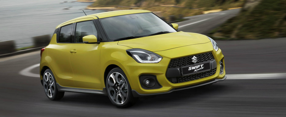 Bucurie pentru fanii Suzuki. Noua generatie Swift Sport are 970 de kilograme si un motor de 140 de cai
