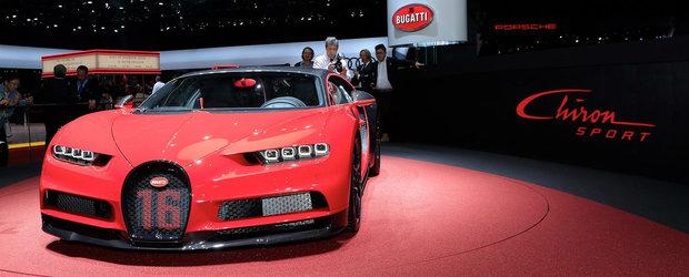 Bugatti a lansat in Geneva o versiune SPORT a noului Chiron. Masina are stergatoare din carbon si costa 2.65 milioane euro