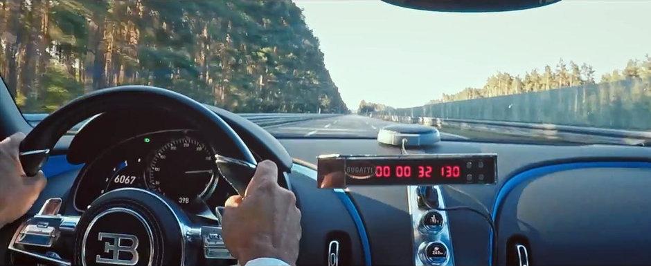 Bugatti a montat o camera la bord si a filmat recordul noului Chiron. AICI este filmul asteptat de toata lumea