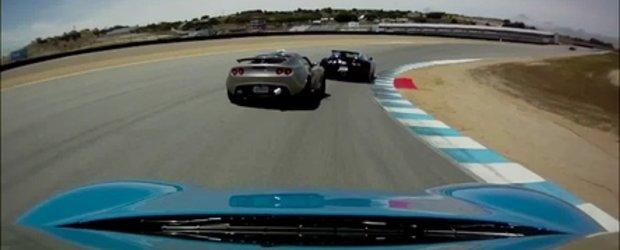 Bugatti Veyron, Ferrari F430 si Lotus Exige S cuceresc Laguna Seca!