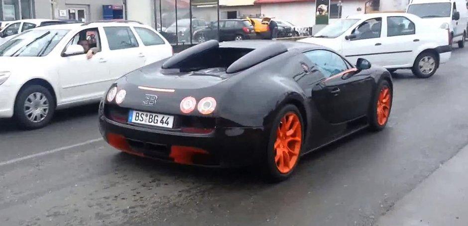 Bugatti Veyron Grand Sport Vitesse WRC, masina de 2 milioane de Euro, in Pipera