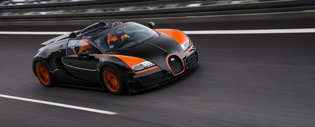 Bugatti Veyron stabileste un nou record: cea mai rapida masina cabrio din lume