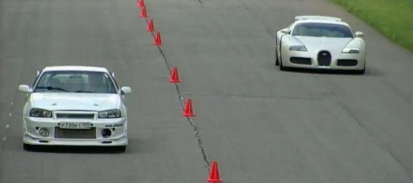 Bugatti vs skyline