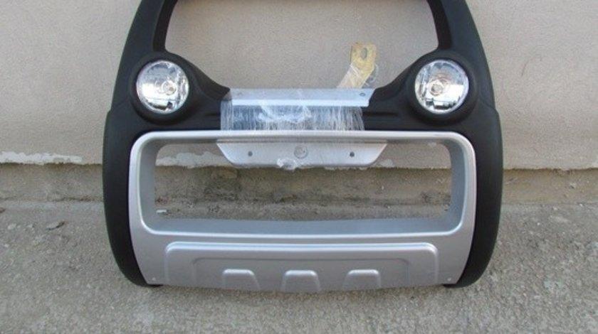 Bullbar inox cu proiectoare compatibil NISSAN NAVARA D40 2005-> AutoCars