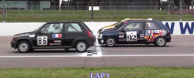 Bunicul sau nepotul? Un Renault 5 GT-T incearca sa tina pasul cu noul Clio RS