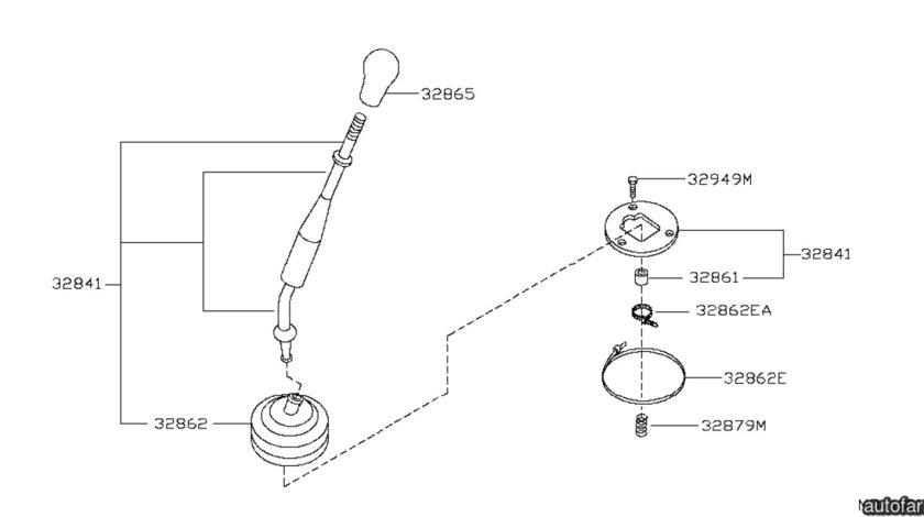 Burduf schimbator viteze Nissan Navara NISSAN OE 32862EA200