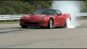 Burnout cu Corvette ZR1