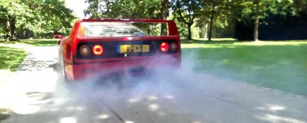 Burnout-uri la 17 ani, cu un Ferrari F40