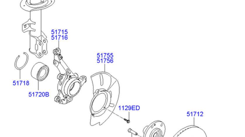 Butuc roata punte fata Hyundai ix 35 HYUNDAY OE 51750-3K000