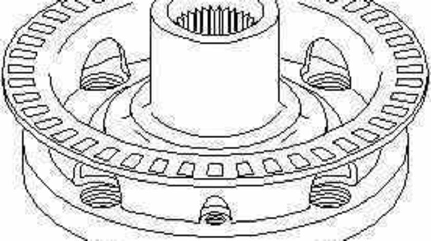 Butuc roata SEAT TOLEDO I 1L TOPRAN 103 477