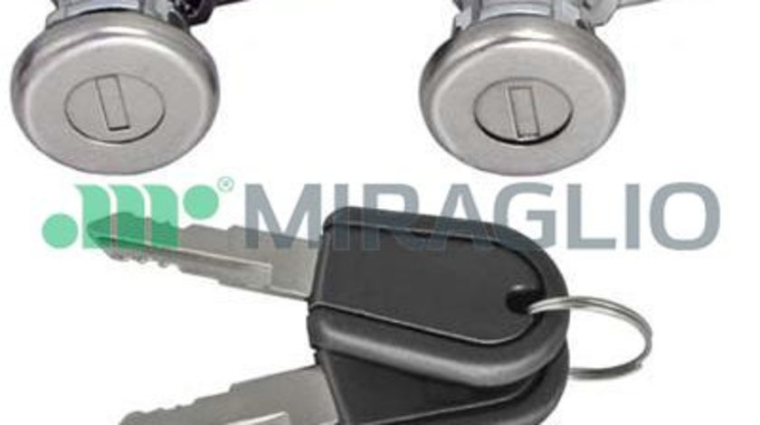 Butuc usa fata stanga/dreapta, 2 cilindri cu 2 chei DACIA LOGAN; RENAULT 19, CLIO, RAPID, TWINGO 1985-2009