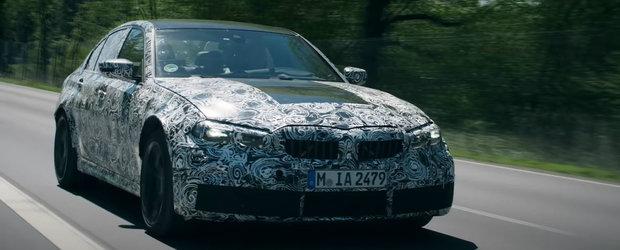 Ca sa mai indulceasca asteptarea, BMW publica un teaser cu noul M3. Sedanul va fi disponibil cu RWD si cutie manuala