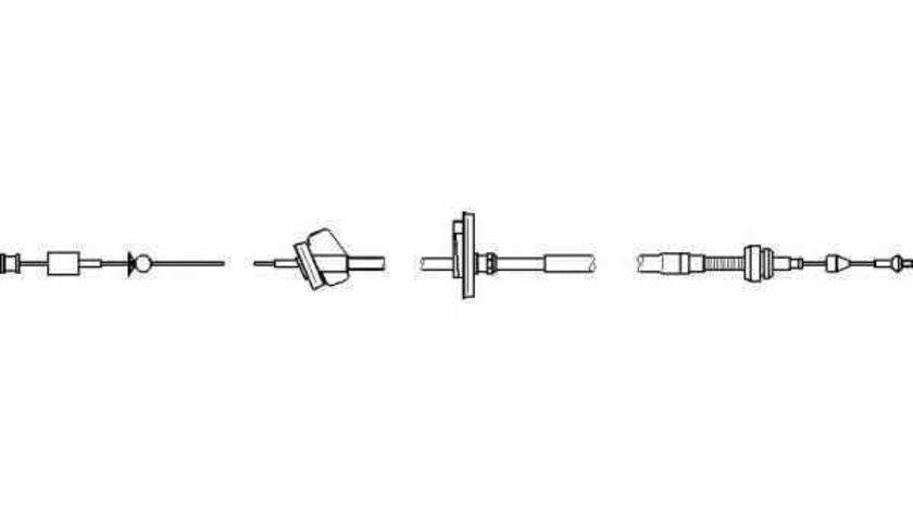 Cablu acceleratie AUDI A4 8D2 B5 TOPRAN 112 160