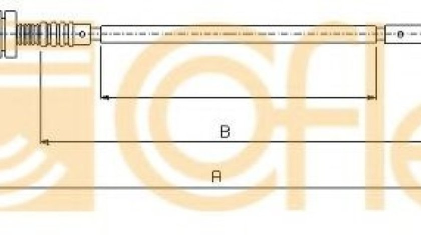 Cablu acceleratie FORD MONDEO II (BAP) (1996 - 2000) COFLE 11.0181 - produs NOU