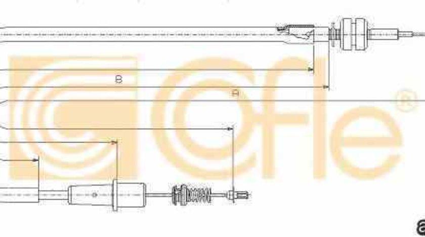 Cablu acceleratie OPEL VECTRA B hatchback 38 ADRIAUTO AD330355