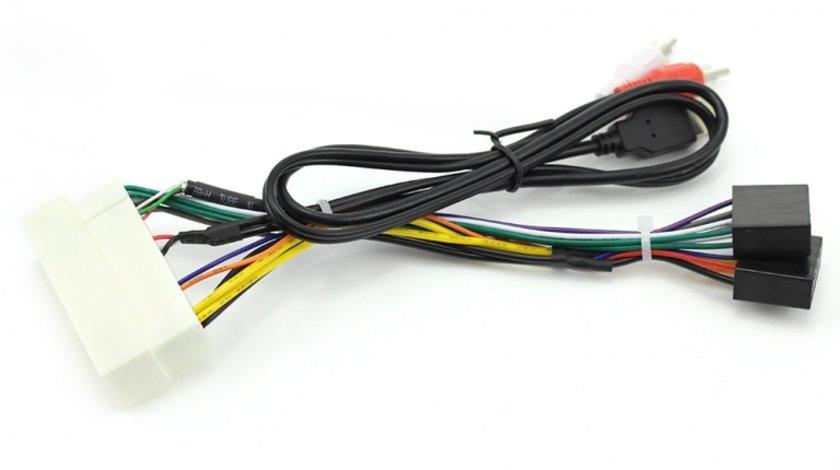 Cablu Adaptor ISO / HYUNDAI 2017+ / KIA 2017+ (AUX+USB)