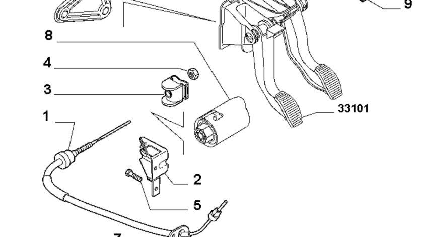 Cablu ambreiaj Fiat 500 benzina FIAT OE 55210048