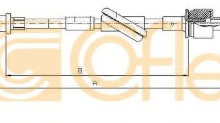 Cablu ambreiaj FORD TRANSIT caroserie (E) (1994 - 2000) COFLE 10.2444 - produs NOU