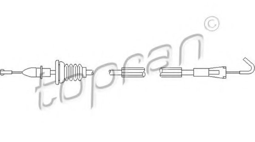 Cablu, deblocare usi VW GOLF IV (1J1) (1997 - 2005) TOPRAN 109 906 piesa NOUA