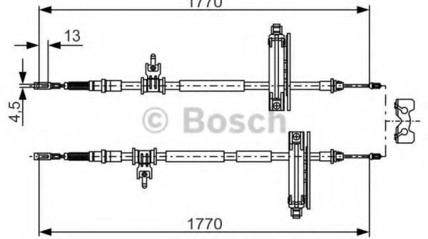 Cablu frana de mana / parcare FORD FOCUS Combi (DNW) (1999 - 2007) BOSCH 1 987 477 931 - produs NOU