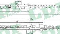 Cablu, frana de parcare AUDI 100 (44, 44Q, C3) ADR...