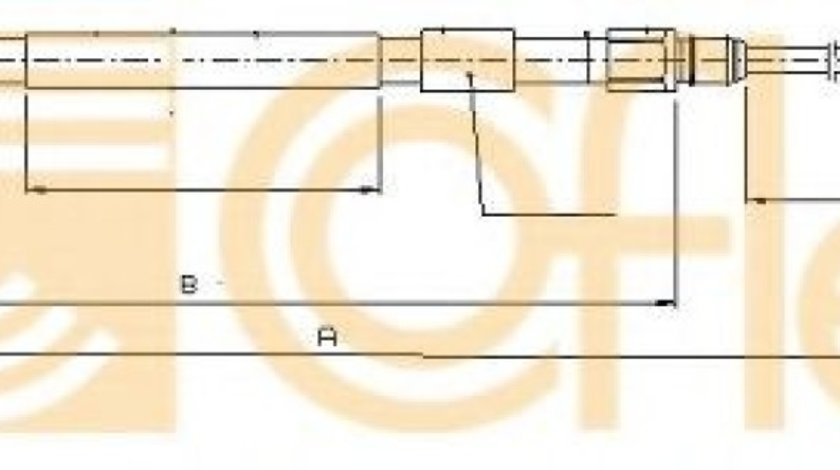 Cablu, frana de parcare BMW Seria 5 (E60) (2003 - 2010) COFLE 10.4157 piesa NOUA