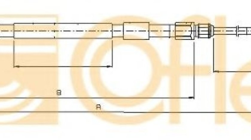 Cablu, frana de parcare BMW Seria 5 (E60) (2003 - 2010) COFLE 10.4158 piesa NOUA