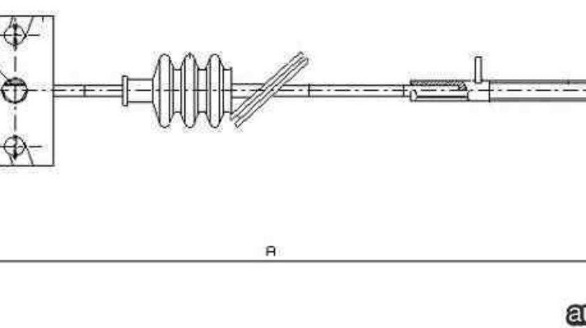Cablu, frana de parcare HYUNDAI TUCSON (JM) ADRIAUTO AD112191