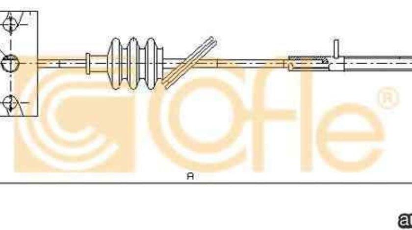 Cablu, frana de parcare HYUNDAI TUCSON (JM) LINEX LIN140118